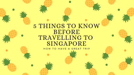 5 Things to Know before Travelling to Singapore
